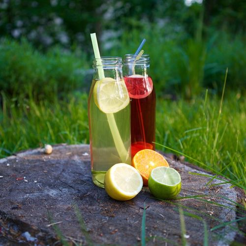 Citrus Fruit Day Drink Drinking Straw Freshness Fruit Grass Healthy Eating Nature No People Outdoors Refreshment SLICE Summer