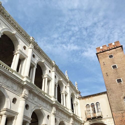 Basilica Palladiana Building Exterior Built Structure Architecture Sky Low Angle View Building Nature Cloud - Sky History No People The Past City Day Travel Destinations Window Outdoors Travel Tourism Sunlight Place Of Worship