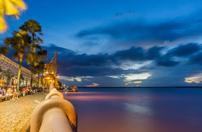 Beach Beauty Beauty In Nature Blue Blue Hour Cityscape Cloud - Sky Long Exposure Night Outdoors People Relaxation Scenics Sea Sky Sunset Tourism Travel Travel Destinations Vacations Water