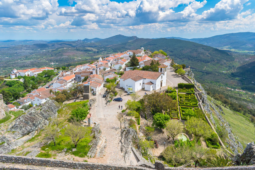castelo de Marvão Architecture Beauty In Nature Building Building Exterior Built Structure Cloud - Sky Day Environment History House Landscape Mountain Mountain Range Nature No People Outdoors Residential District Scenics - Nature Sky The Past Travel Destinations