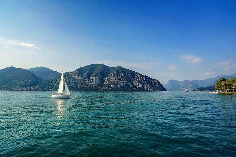 Lake Iseo Italy Landscape Lake View Lake
