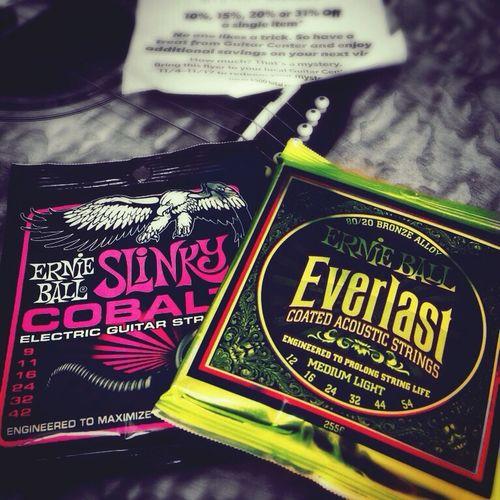 Guitar strings.. Guitar EarnieBall