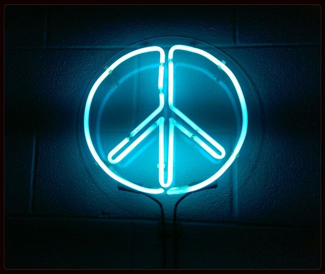 Learning Peace Neon Lights