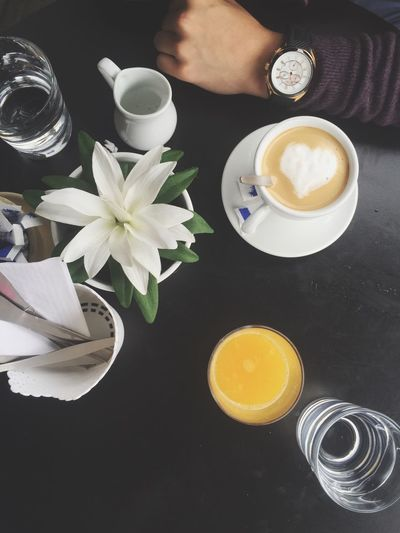 morning brunch 😊 Englishbreakfast Tasty Coffee Teddington Orange Juice