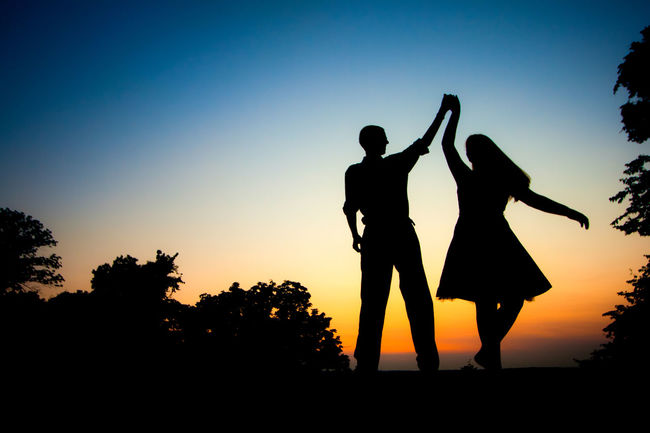 Dance Dance Photography Full Length People Silhouette Standing Sunset Togetherness Two People