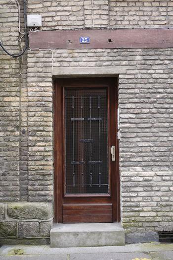 Architecture Building Exterior Day Die Dieppe Door Entrance No People Outdoors Wooden 2⃣5⃣ Glass Brick Wall Brick Building