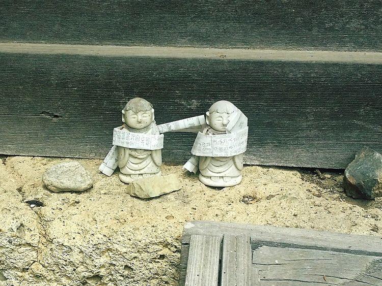 Petite rencontre au détour d'un chemin Japan Statue Divinity Yamadera Temple Kami