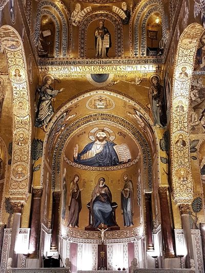 Hidden Gems Cultures History Historical Building Church Gold Gold Colored Architecture Architecture_collection Mosaic Art is Everywhere Travel Destinations Travel Photography Visititaly Italy Sicily Siciliabedda