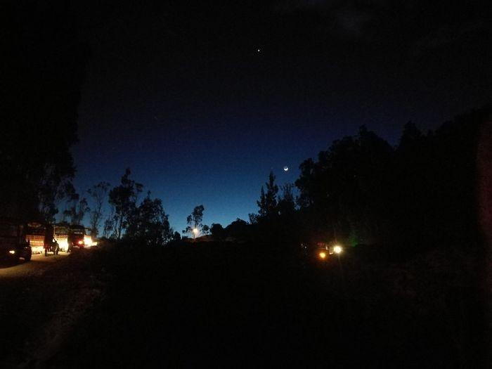 Desfile. Fiestas de laVirgen del Carmen Astronomy Star - Space Space Tree Illuminated Milky Way Galaxy Camping Sky