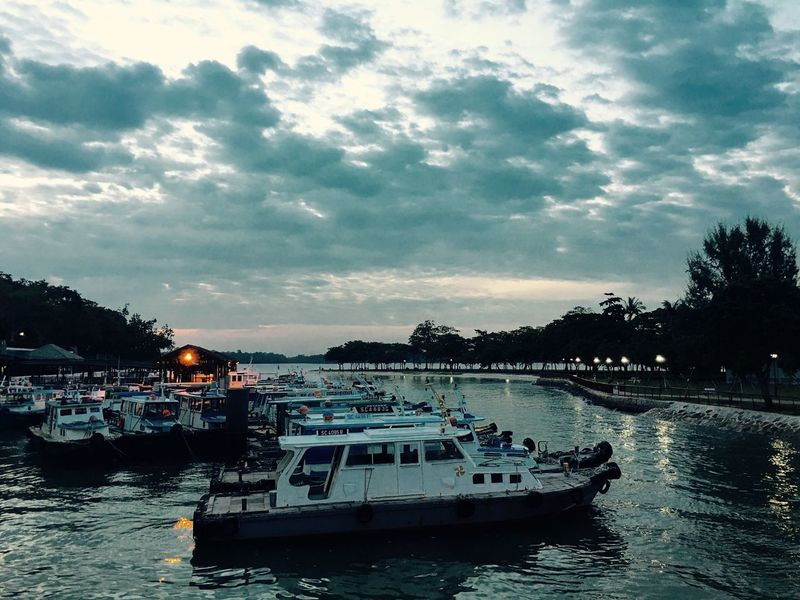 Cloudy Evening Ferry Terminal Ferries Yacht Sinagpore EyeEmNewHere EyeEmNewHere