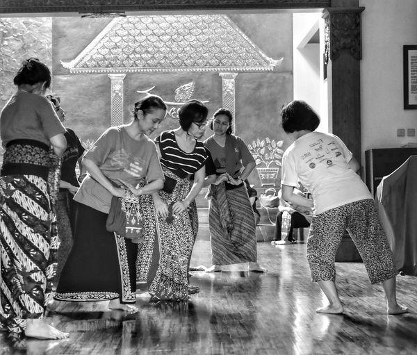 Archival Medium Group Of People Men Indoors  Women Friendship Adult People Javanesetraditional Javanese Culture Javaneseartist