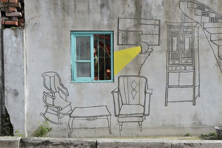 Beitou EyeEm Selects Graffiti Street Art Architecture Built Structure Building Exterior Day No People