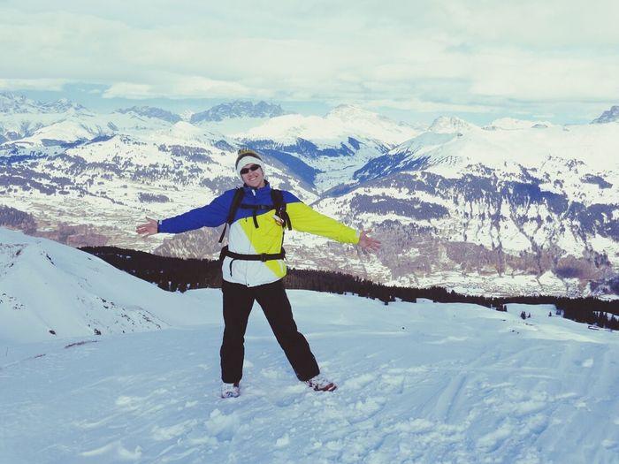 Skitouring OnTop Enjoying Life Me