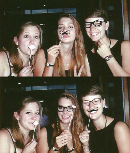 Girls Chiqs Love Glasses Moustache Kiss Lips Wedding Fun Style