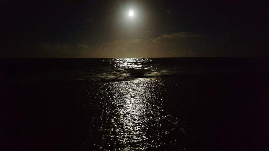 Reflection Waterfront Beauty In Nature Outdoors Beach Bum Ocean View Moon Rising Moonlight Photography Moonlit_night Ocean Dream Ocean_Collection ~~ Ocean❤ Ocean Photography Illuminated Night Shiny Moonlight On The Sea