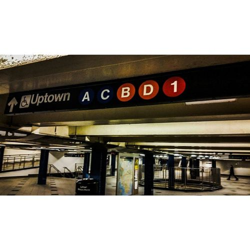 New York City Life. 59th St Columbus Circle Subway station. 3 lines cross at the station. The 8th and 6th Ave IND and the Broadway IRT. This sign denotes the trains to my New York, Uptown baby. However take the A or D express unless you wanna kill yourself because of all the stops on the B/C. Columbus Circle Manhattan. Newyorkcity Newyork Mtastation Transit mtasubway newyorkcitytransit train mtatrain publictransportation trains mtatransit mta brooklyn newyorkcitytransitauthority mtanyc newyorkcitysubway ny queensny queens nyc sciencefiction nycsubway timesquares surrealism subway autumn2014 london 7train signs