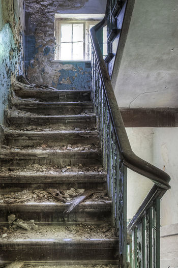 Abandoned Architecture Built Structure Close-up Day Hand Rail Indoors  Lostplaces No People Railing Spiral Spiral Stairs Staircase Stairs Stairway Steps Steps And Staircases Treppe Verlassene Orte