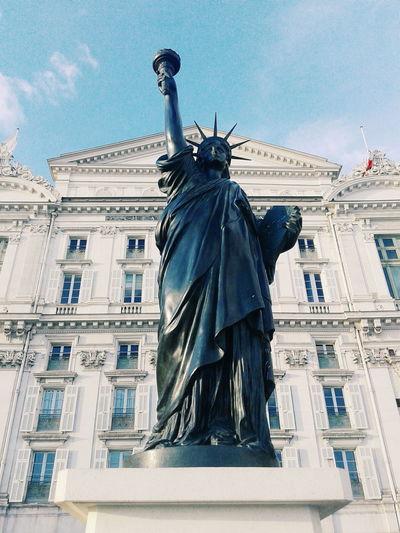 Nice, France Cotedazur Statue Of Liberty Promenade Des Anglais Exibit
