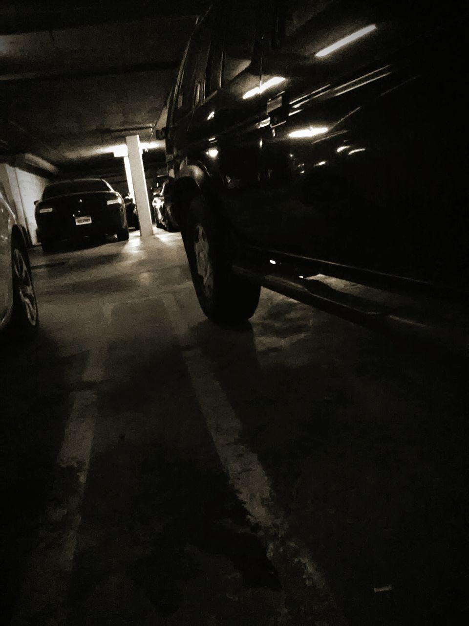 transportation, night, mode of transport, car, land vehicle, illuminated, public transportation, stationary, no people, indoors