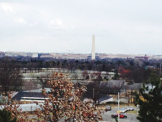 Overlooking the Washington Monument and the National Mall from the Air Force Memorial.