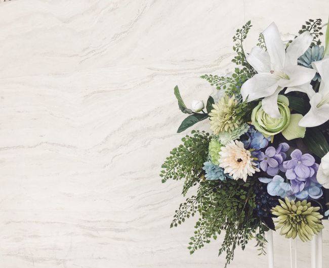 Close-up of flower bouquet on table