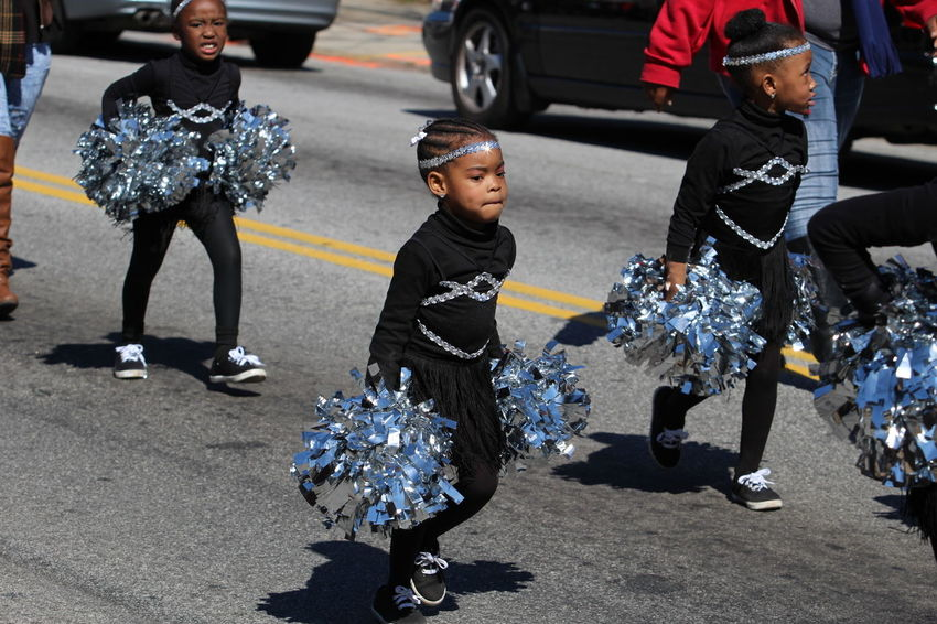 Babygirl Black Girls Rock Casual Clothing Cheerleader Cheerleading Competition Childhood Enjoyment Fun Pom Poms