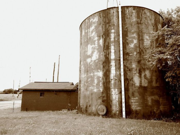 Built Structure Outdoors Day No People Building Exterior Low Angle View Tanks Water Weathered Architecture Agriculture