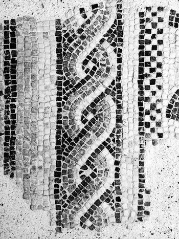Roman mosaic. Design Flooring Geometry Mosaic Mosaic Tiles Pattern Pattern Pieces Pavement Repetition Roman Symbol Textured  Tile Tiled Floor