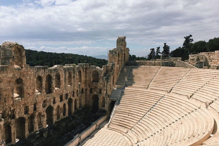 Ancient Ruins Ancient Greek Athens Acropolis Architecture Historical Monuments