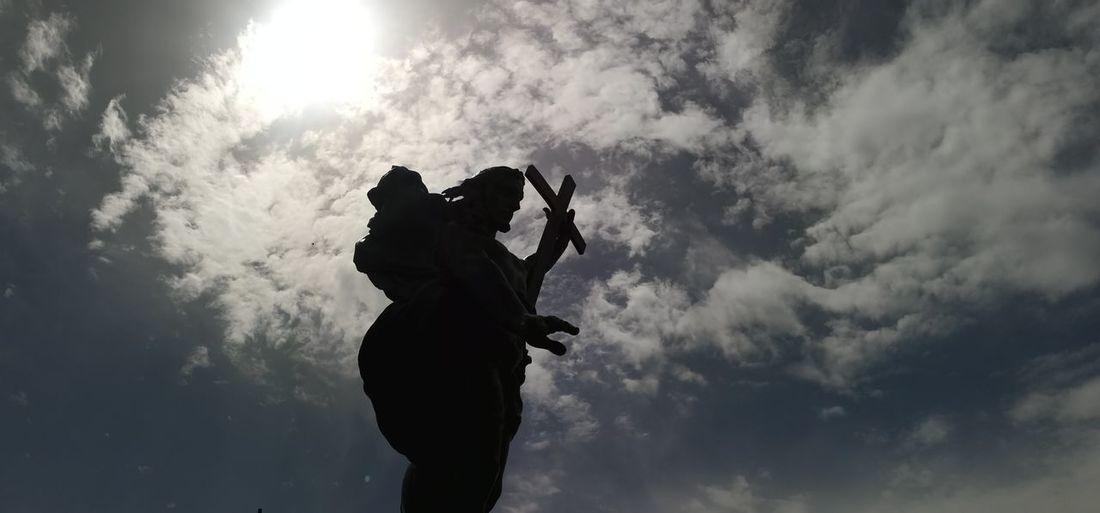 Redentore Religious Art Redentore EyeEmNewHere Sardegna Nuoro Italy Panoramic Suggestive Sky Cloud - Sky