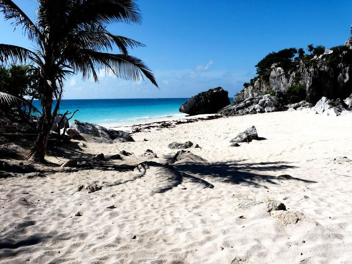 Idyllic View Of Beach On Sunny Day
