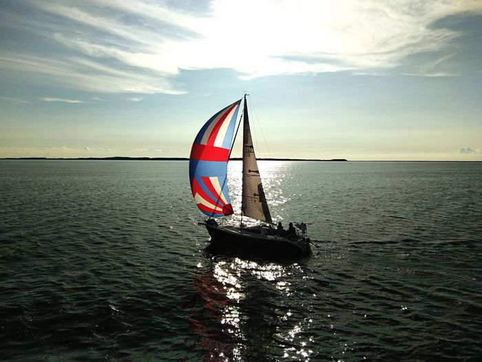 Sunset boat Segelboot Sailing Boat Water Sea Sky Beauty In Nature Nautical Vessel Waterfront Nature Horizon Over Water
