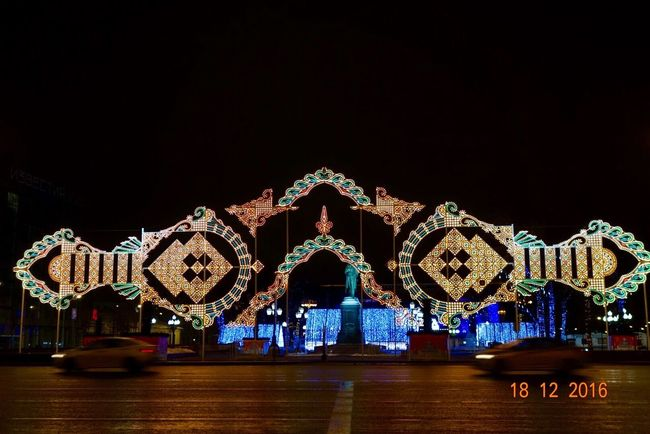 Illuminated Amusement Park Ride Arts Culture And Entertainment Night Amusement Park Sky No People Christmas Lights Christmas Decoration Outdoors