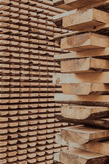 Full Frame Backgrounds Pattern Textured  No People Large Group Of Objects Wood - Material Brown Arrangement Stack Close-up Wood Day Repetition Abundance Wall - Building Feature In A Row Wall Outdoors Wood Grain