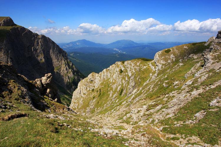 Scenic view of the carpathian mountain range