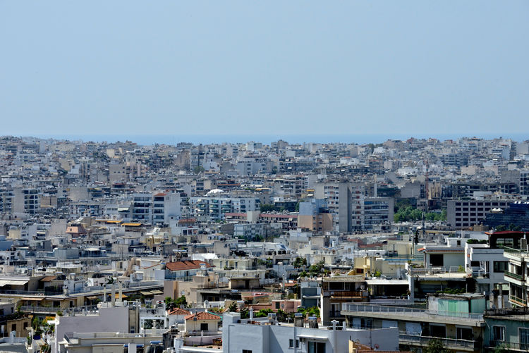 panoramic view of Athens town Building Exterior City Architecture Built Structure Sky Building Cityscape Residential District Copy Space Clear Sky Outdoors Day High Angle View City Life Sunlight Apartment TOWNSCAPE Athens, Greece Panoramic View Skyline Tourism Destination Architecture Town