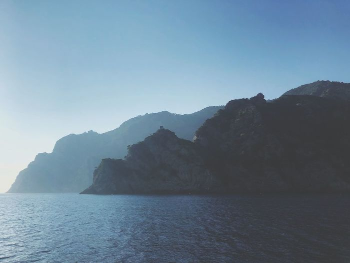 Italy Cliffs Portofino Natural Regional Park Water Sky Beauty In Nature Scenics - Nature Tranquil Scene Tranquility Mountain