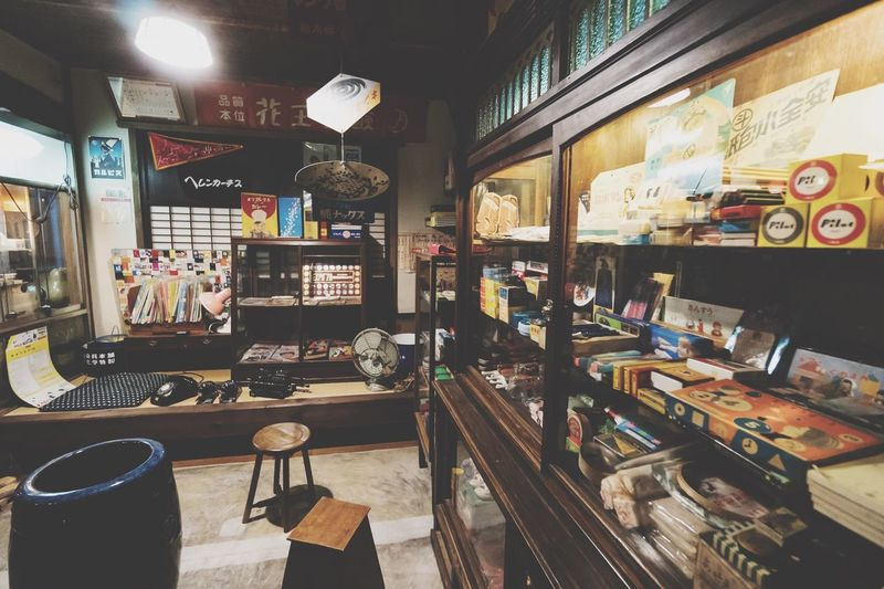 Indoors  Chair Large Group Of Objects Store Table Illuminated Text No People Architecture Built Structure Cafe Day City Cash Register Nostalgic  Nostalgia Japan