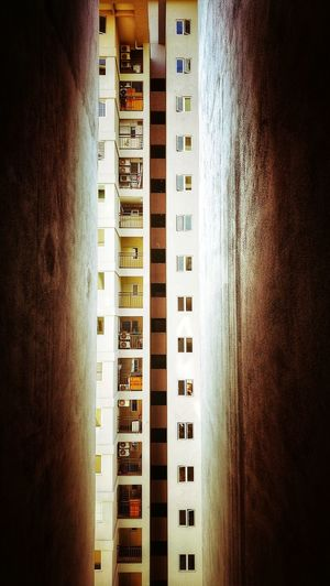 view shaft Architecture Malaysia Cheras Apartment Building Shaft Windows Senibina Vertical Composition Vertical Panorama Indoors  Close-up No People Day