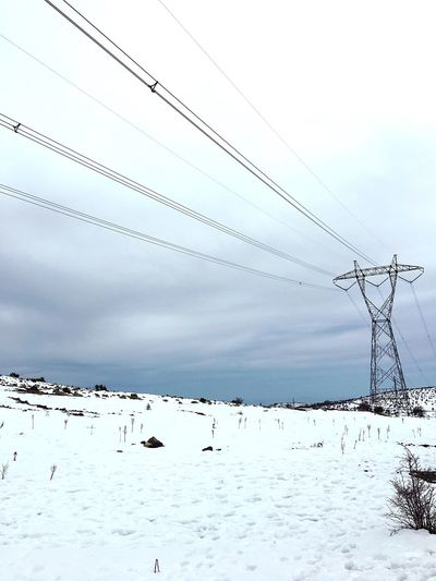 Cable Electricity  Power Line  Connection Winter Cold Temperature Snow
