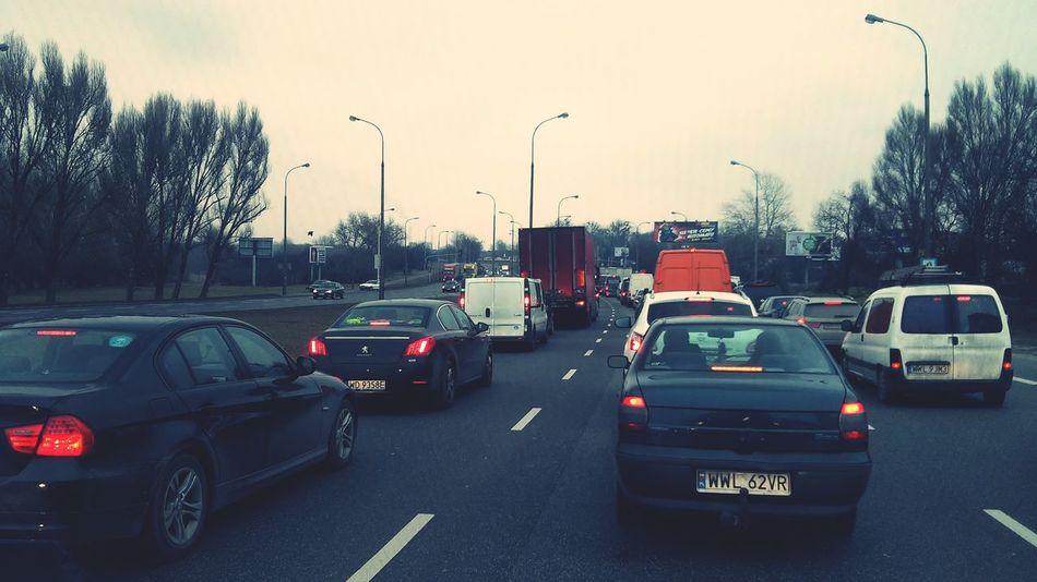 Warszawska dolinka w szczycie:) Warszawa  Warsaw Traffic Car Spring