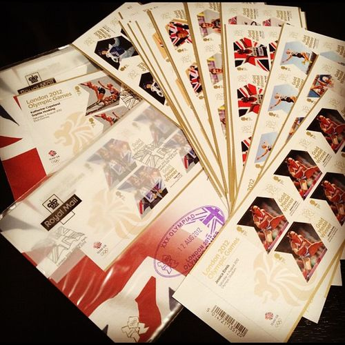 Speaking of stamps got my last one from the Royal Mail today #stamps #olympics #GBGold Olympics Gbgold Stamps