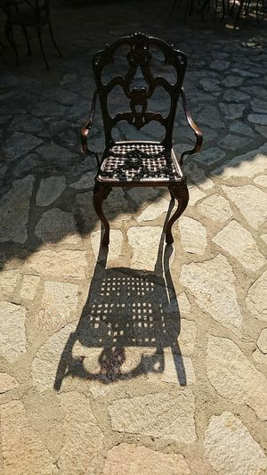 Sunlight Shadow No People Sand Day Outdoors Perfume Artistic Photo Travel Destinations Summer Chair Art Old Times Historical Monuments Historic Roman Ruins Roman Empire