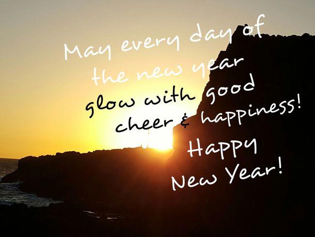 Fuerteventura Sea Sunset Happy New Year New Year New Year Wishes Sunrise