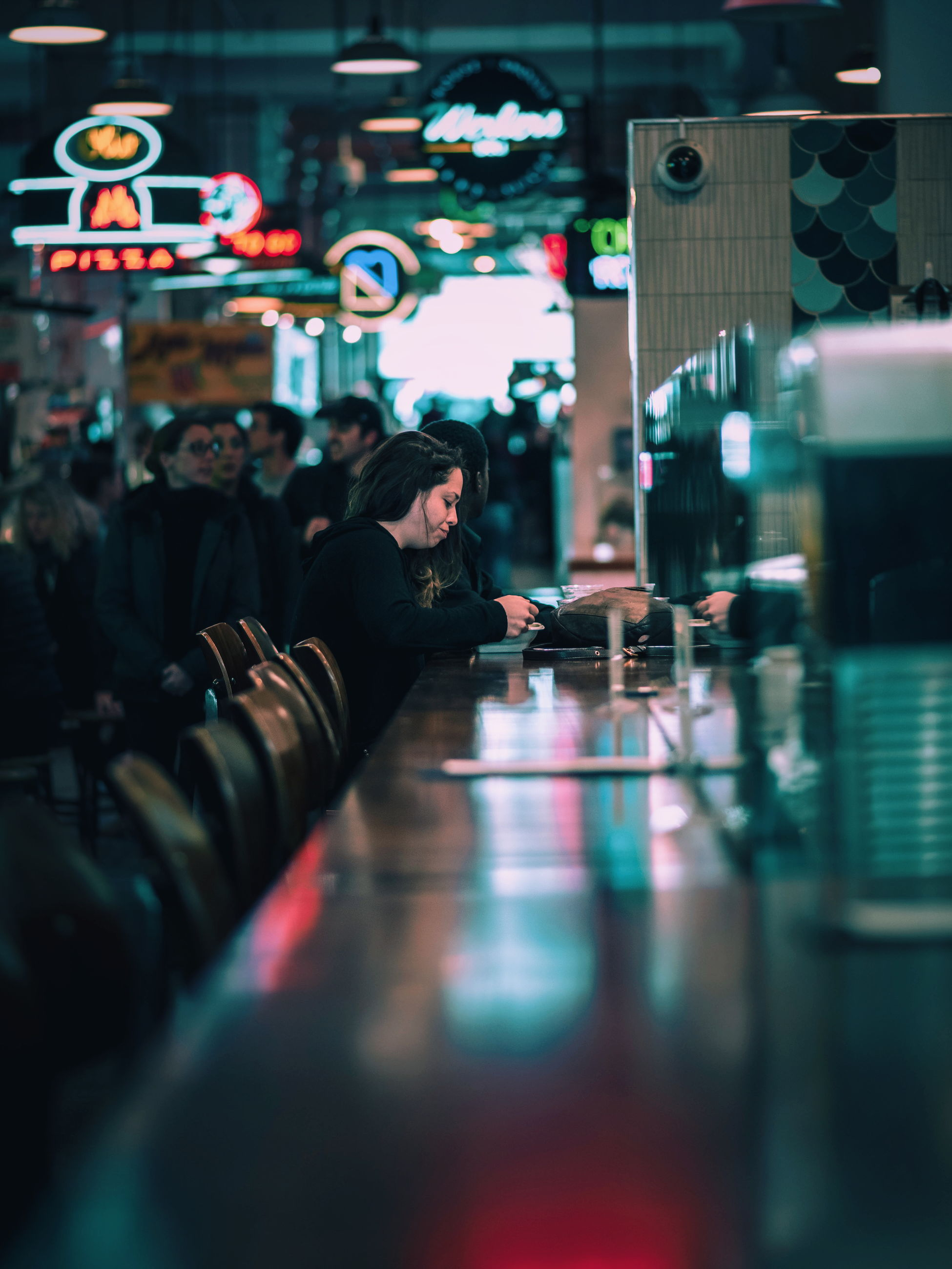selective focus, real people, indoors, men, technology, one person, women, day, people