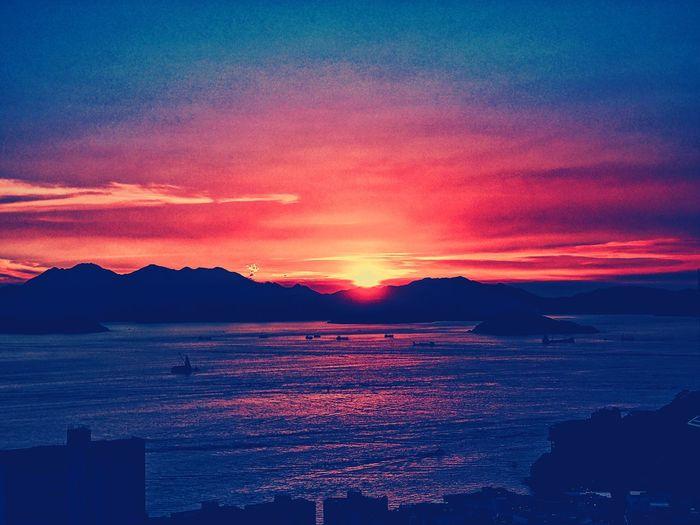 Sunset Beauty In Nature Nature Mountain Sea