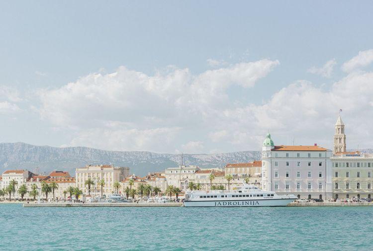 Sunset Kingdom Architecture City Cityscape Cloud - Sky Croatia Pastel Rule Of Thirds Sky Skyline Waterfront