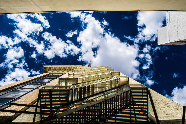 Architecture Blue Building Exterior Built Structure City City Life Cloud Cloud - Sky Day Low Angle View Office Building Outdoors Sky Skyscraper Tall Tall - High Tower Window