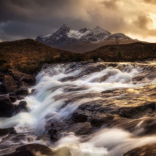 Sligachan, Isle of Skye Scotland Scottish Highlands Landscape Beauty In Nature Dramatic Sky Autumn Nikon Motion Mountain Highlands Long Exposure Sunlight Tranquility