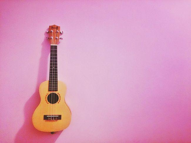 Pink Ukulele Love Guitar